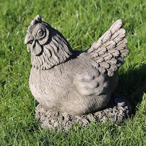 Stone Hen Chicken Garden Ornament Statue
