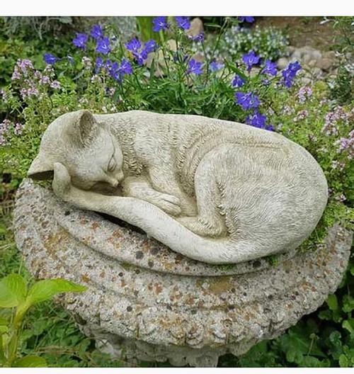 Stone Cat Kitten Garden Ornament Statue