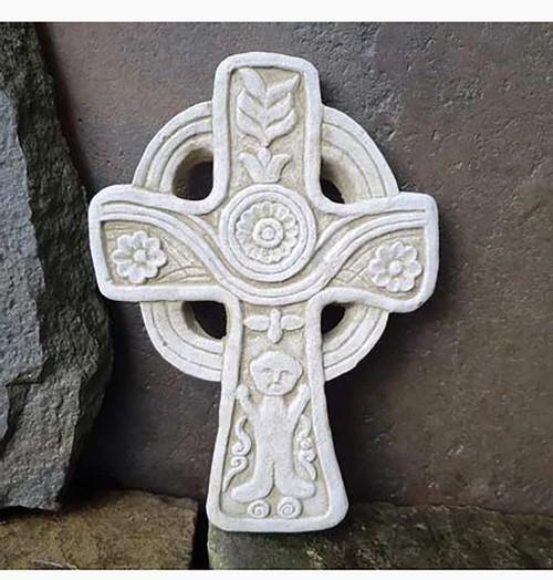 Stone Celtic Cross Garden Ornament Hanging Plaque Statue