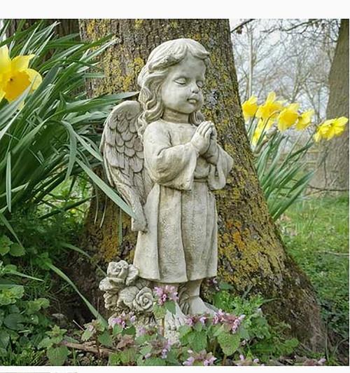 Stone Angel Garden Ornament Statue