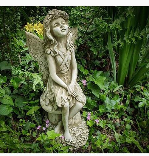 Stone Fairy Angel Garden Ornament Statue