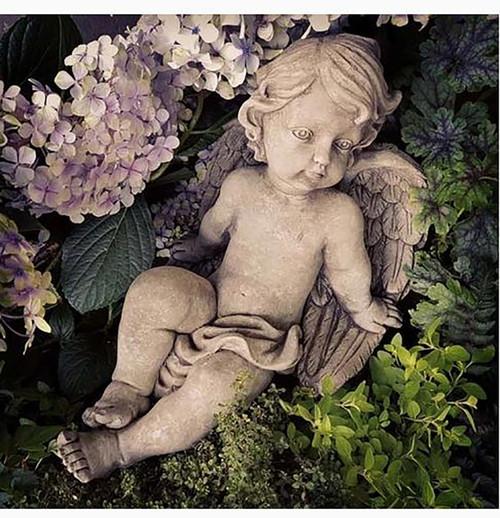 Stone Cherub Garden Ornament Statue