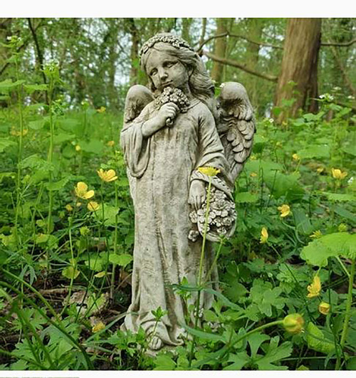 Stone Girl Angel Garden Ornament Statue