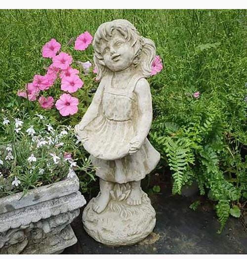 Stone Summer Girl Garden Ornament Statue