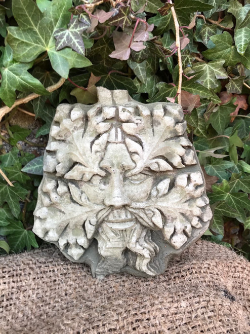 Stone Greenman Plaque Garden Ornament Statue