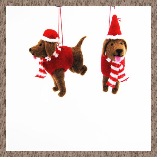 Christmas Decoration Home Ornament Hanging Standing Felt Santa Angel Fairy Gonk Dog