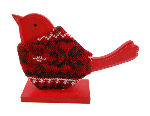 Nordic Robin Christmas Decoration Wood Ornament