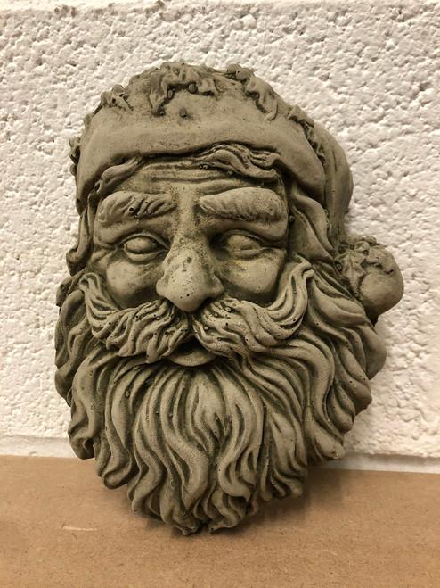 Reconstituted Stone Christmas Santa Xmas Plaque Statue Garden Ornament