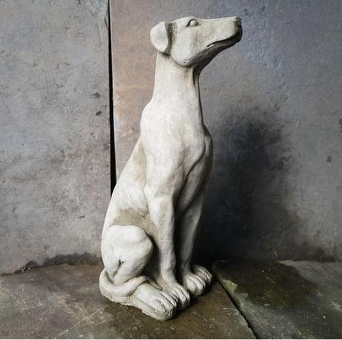 Sitting Puppy Dog Stone Statue | Animal Puppy Garden Outdoor Ornament Decoration