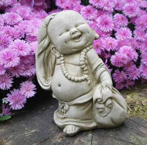 Wandering Monk Stone Statue | Buddha Oriental Garden Outdoor Decoration Ornament