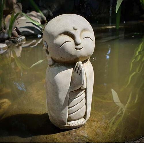 Lovely Monk Stone Statue | Buddha Oriental Garden Outdoor Decoration Ornament