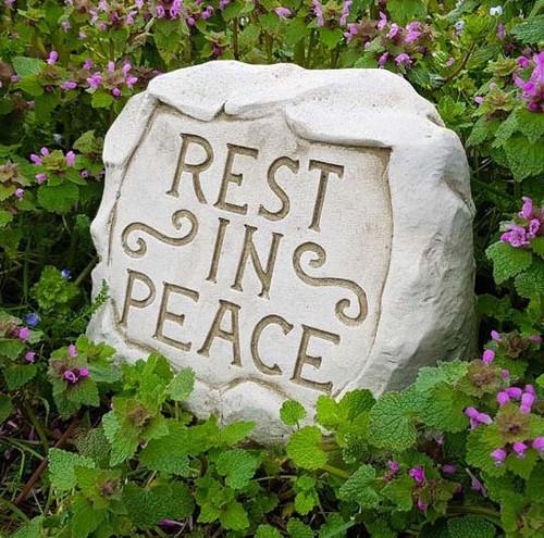 Stone Rest in Peace Memorial Outdoor Garden Ornament Decoration Statue