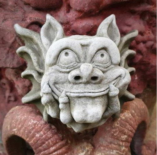 Stone Gremlin Hanging Plaque Statue Outdoor Ornament Garden Decoration
