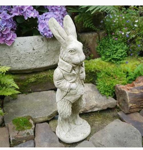 Stone Peter Rabbit Beatrix Potter Statue Outdoor Garden Ornament Decoration