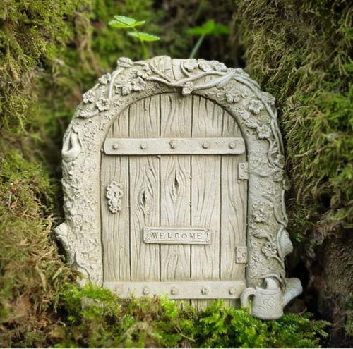 Stone Fairy Door Outdoor Garden Ornament Hanging Plaque