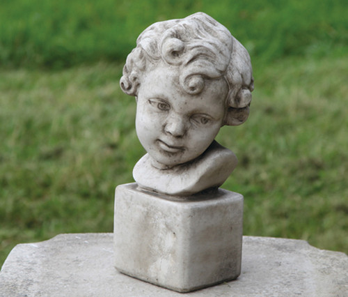 Reconstituted Stone Outdoor Garden Statue Ornament Decoration Girl Cherub Bust