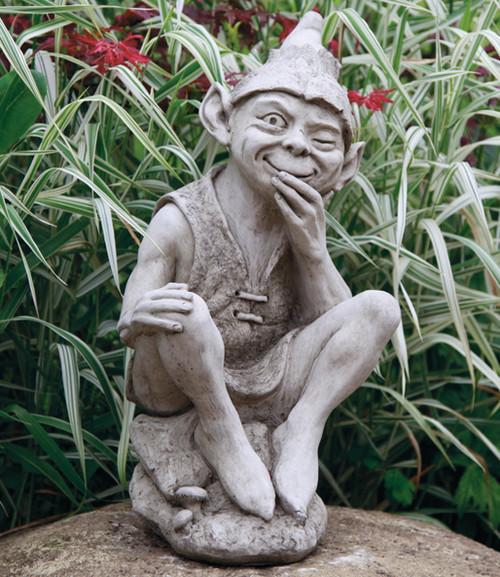 Reconstituted Stone Outdoor Garden Statue Ornament Decoration Imp Gnome