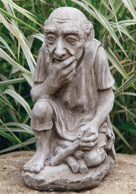 Reconstituted Stone Outdoor Garden Statue Ornament Decoration Gnome Man