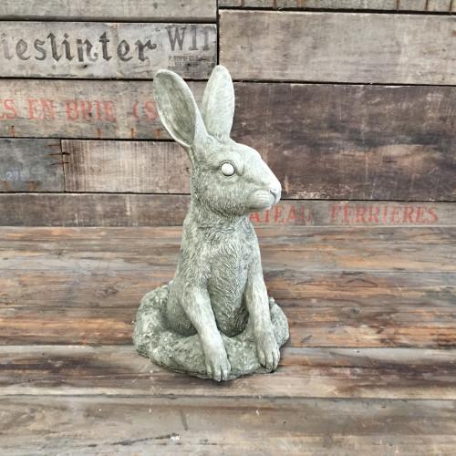 Reconstituted Stone Outdoor Garden Statue Ornament Decoration Bunny Rabbit Hare