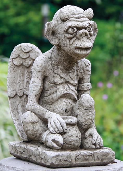 Reconstituted Stone Outdoor Garden Statue Ornament Gremlin Gargoyle