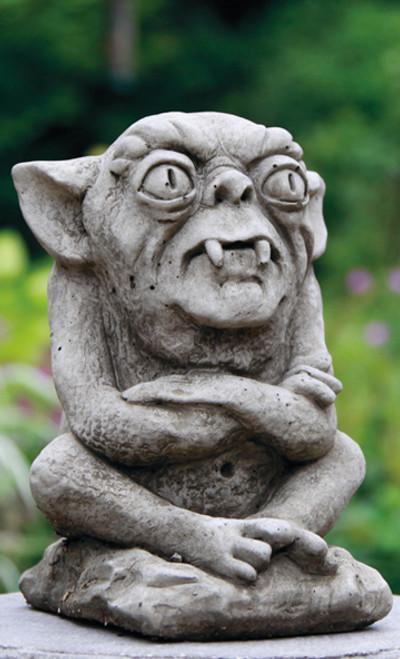 Reconstituted Stone Statue Concrete Outdoor Garden Ornament Gremlin Gargoyle