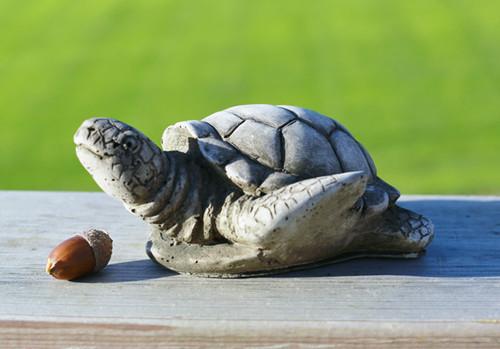 Reconstituted Stone Statue Concrete Outdoor Garden Ornament Turtle