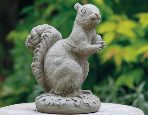 Reconstituted Stone Concrete Statue Outdoor Garden Ornament Squirrel