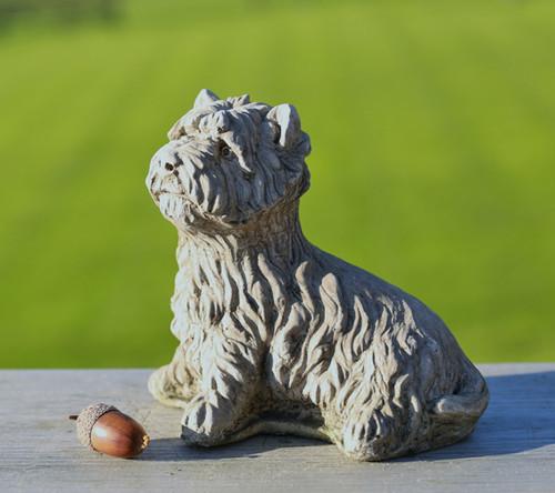 Reconstituted Stone Concrete Statue Outdoor Garden Ornament Westie Puppy Dog