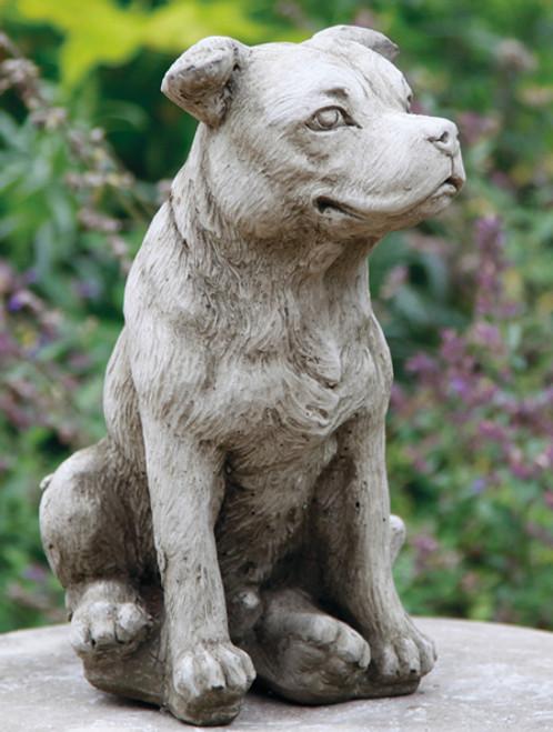 Reconstituted Stone Concrete Statue Outdoor Garden Ornament Staffordshire Bull Terrier Dog