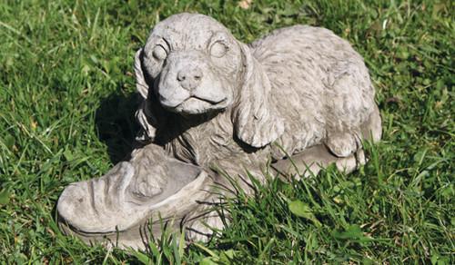 Reconstituted Stone Concrete Statue Outdoor Garden Ornament Cocker Spaniel Puppy Dog