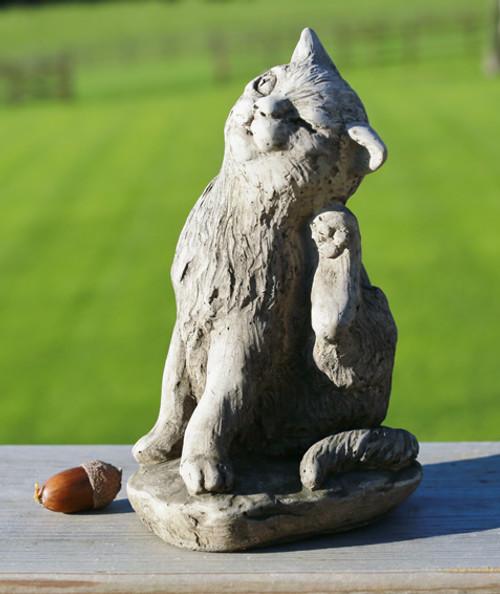 Reconstituted Stone Garden Statue Outdoor Ornament Cat Kitten