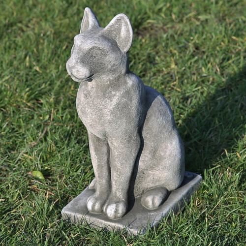 Reconstituted Stone Garden Statue Outdoor Ornament Cat Kitten