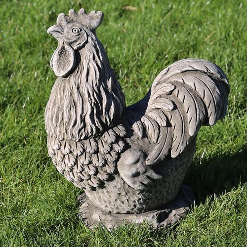 Reconstituted Stone Garden Statue Outdoor Ornament Chicken Hen Cockerel