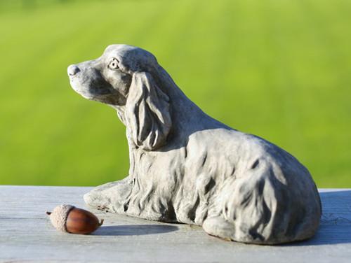 Reconstituted Stone Garden Statue Outdoor Ornament Cocker Spaniel Puppy Dog
