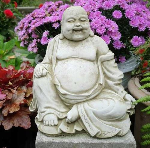 Reconstituted Stone Garden Statue Outdoor Ornament Monk Buddha Oriental