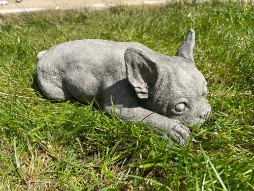 French Bulldog Stone Garden Statue