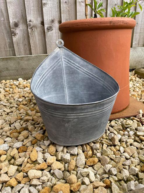 Galvanised, zinc, steel, metal, outdoor, indoor, garden, home, planter, pot, urn, vase, flower, trough, set, plants,