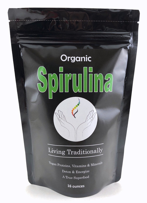 Organic Spirulina Powder, Powerful Anti-oxidants, Rich Nutrition, Proteins, Amino Acids, Multiple Vitamins & Minerals
