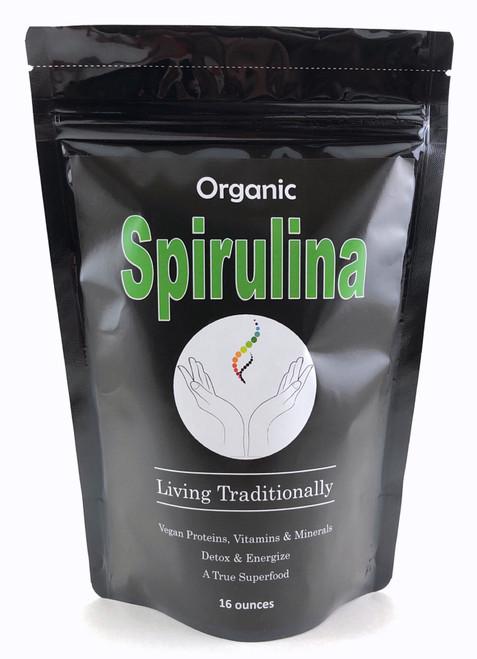 Organic Spirulina Powder, Powerful Anti-oxidants, Rich Nutrition, Proteins, Amino Acids, Multiple Vitamins & Minerals