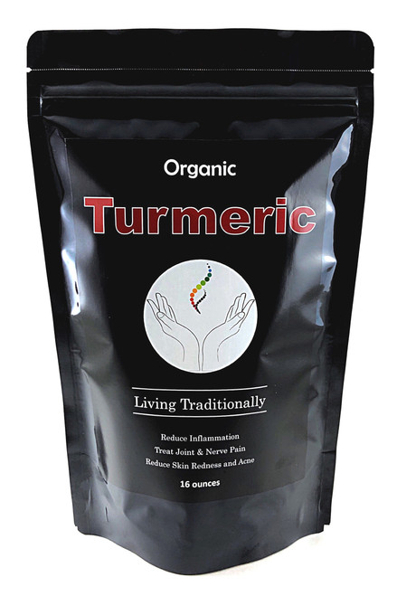 Organic Turmeric Powder (16oz) Essential Eastern Medicine Spice:  Anti-Inflammation, Pain Control,  Reduces acne and redness in the face.  Great for overall health and longevity!