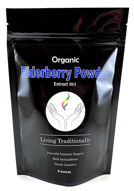 Organic Elderberry Extract Powder: Boost Immune System, Powerful Antioxidant & gentle laxative