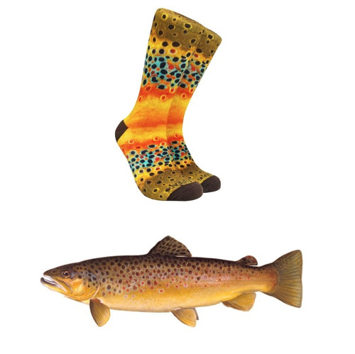 Reel Threads Brown Trout Socks52384