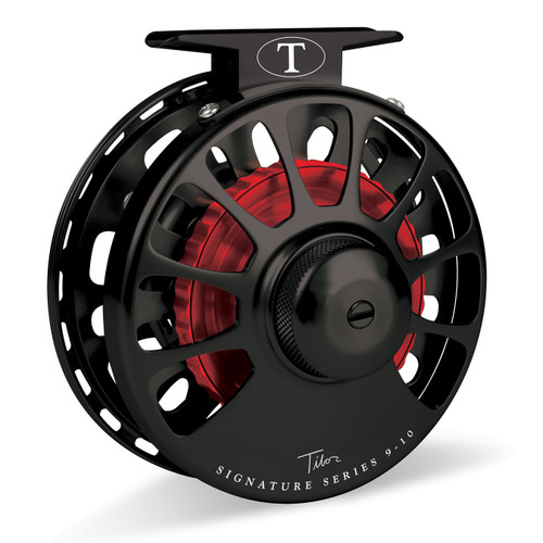 Signature Series 9-10wt Frost Black Reel with Red Hub36380