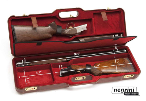 Negrini 1670 OU/SxS Luxury Shotgun Leather Case 1670PL/477342241