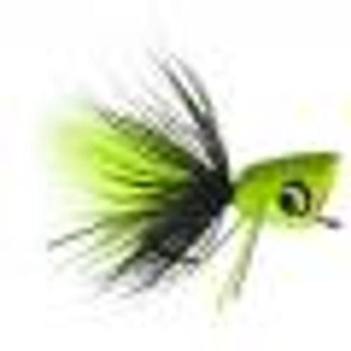Bass Popper Chartreuse Splatter 0623802