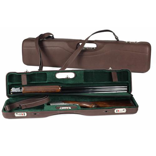 Negrini OU/SXS Luxury Leather Uplander Ultra-Compact Hunting Shotgun Case 16405P42246