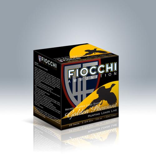 """Fiocchi Golden Pheasant 28ga 2-3/4"""" 7/8oz #6 Shot37598"""
