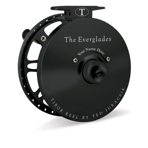 The Everglades Reel Matte Black with Bonefish Engraving32786