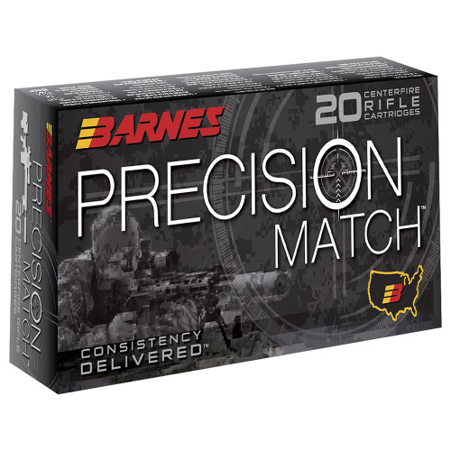Barnes Precision Match 338 Lapua 300GR Open Tip Match45925