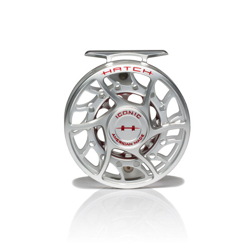 Hatch Iconic 5 Plus Clear/Red Mid Arbor Reel53725